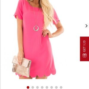 Dresses & Skirts - Pink scalloped dress from lime lush